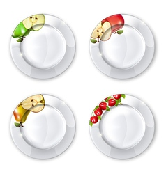 Collection of plates vector image
