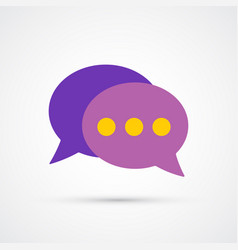 communication trendy social symbol trendy colored vector image