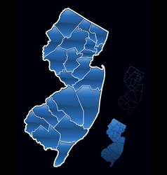 counties of new jersey vector image