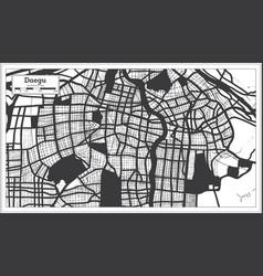 Daegu south korea city map in black and white vector