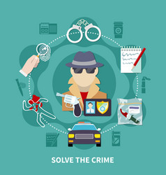 Detective colored composition vector