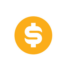 dollar money symbol in yellow circle vector image