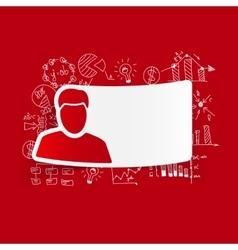 drawing business formulas man vector image