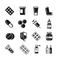 Drugs or medicine Pills capsules mixture vector image