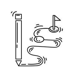 e-commerce concept icon hand drawn icon set vector image