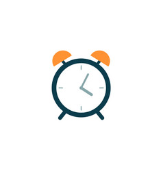 flat alarm clock for time with a bell watch icon vector image