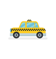 flat icon of classic yellow taxi cab vector image