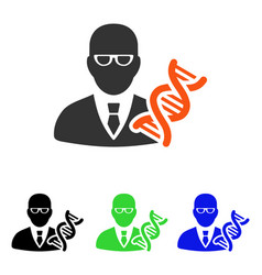 Genetic engineer flat icon vector