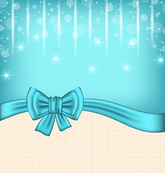 Glow celebration card with gift bow vector image vector image