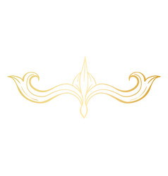 golden isolated headpiece floral decoration vector image