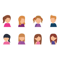group of cute little kids vector image