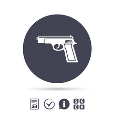Gun sign icon firearms weapon symbol vector