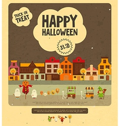 Halloween Card - Trick or Treat Characters vector