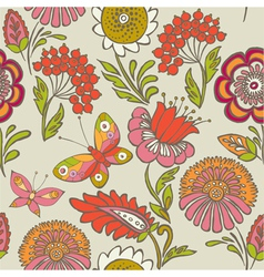 hand drawn craft paper vector image