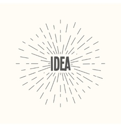 Hand drawn sunburst - idea vector
