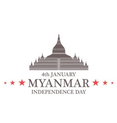 Independence Day Myanmar vector