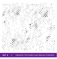 ink brush strokes grunge collection dirty design vector image