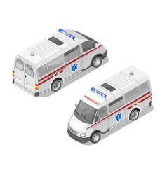 isometric 3d of ambulance car vector image