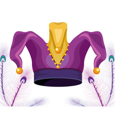 Jester hat with beads vector