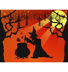 Night on Halloween vector