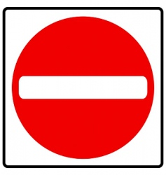 no entry vector image