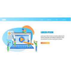 online students education horizontal banner vector image
