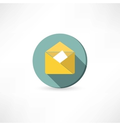 Open yellow envelope vector image