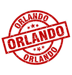 Orlando red round grunge stamp vector