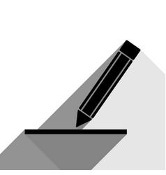 Pencil sign black icon with vector