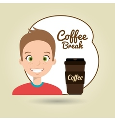 people and coffee icon design vector image