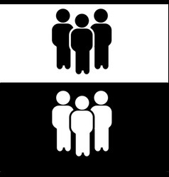 people icon flat design vector image