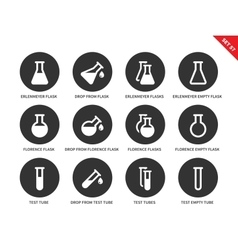 Phial icons on white background vector image vector image