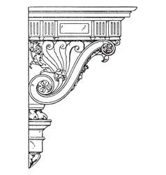 Renaissance console palladian style vintage vector