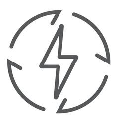 renewable energy line icon ecology and energy vector image