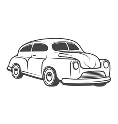 Retro car isolated on white background design vector