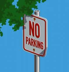 Roadsign-noparking vector