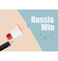 Russia win Flat design business vector