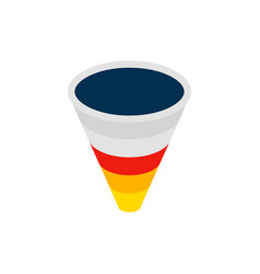 Sales funnel isometric object vector