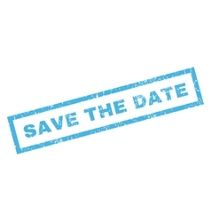 Save The Date Rubber Stamp vector