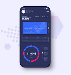 savings tracker concept ui ux gui screens and vector image
