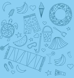 seamless pattern with beach vector image