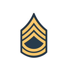 Sergeant first class sfc us military rank insignia vector