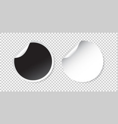 set of blank stickers empty promotional labels vector image