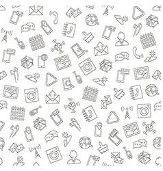 Social life pattern black icons vector