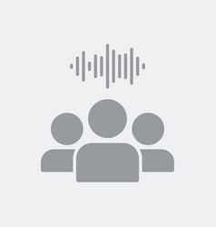 sound of people talking vector image