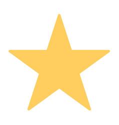 star silhouette icon vector image