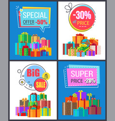 super sale special offer best prices discounts box vector image