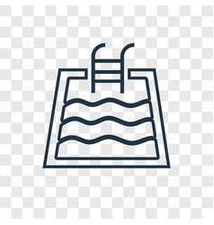 swimming pool concept linear icon isolated on vector image