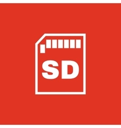 The sd card icon Transfer and connection data vector image