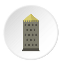 Tower icon circle vector